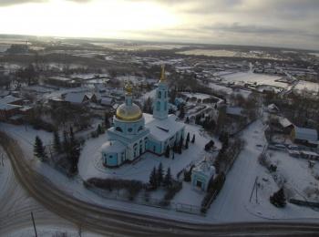 Покровский храм с высоты птичьего полета
